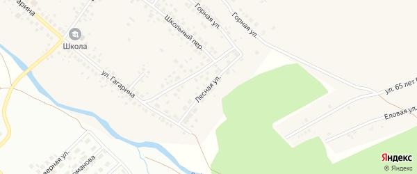 Лесная улица на карте села Райманово с номерами домов
