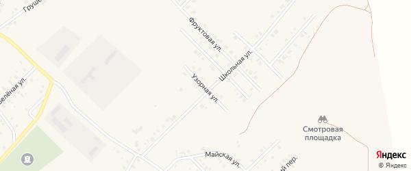 Узорная улица на карте села Райманово с номерами домов