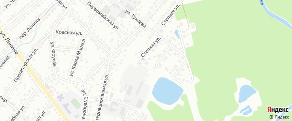 Степная улица на карте Туймаз с номерами домов