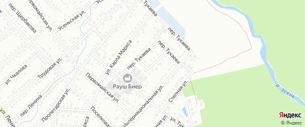 Интернациональный переулок на карте Туймаз с номерами домов