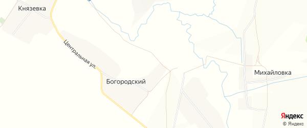 Карта деревни Богородского в Башкортостане с улицами и номерами домов