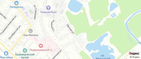 Лесная улица на карте Туймаз с номерами домов