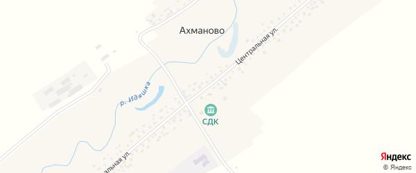 Центральная улица на карте села Ахманово с номерами домов