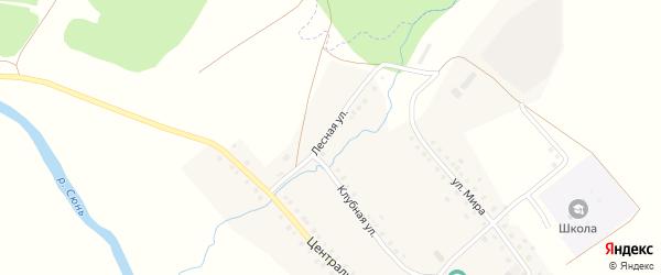 Лесная улица на карте села Камышлытамака с номерами домов