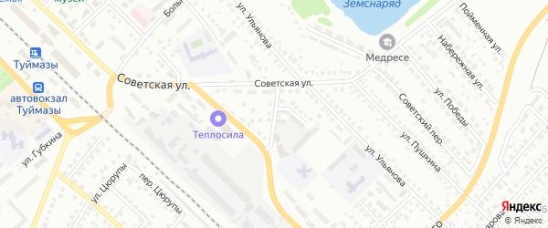 Переулок Гафурова на карте Туймаз с номерами домов