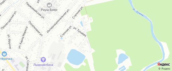 Лесопарковый проезд на карте Туймаз с номерами домов