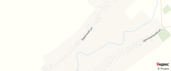 Заречная улица на карте села Ахманово с номерами домов
