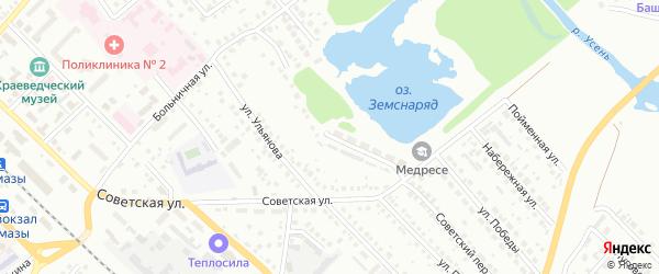 Приречная улица на карте Туймаз с номерами домов