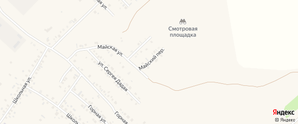 Майский переулок на карте села Райманово с номерами домов