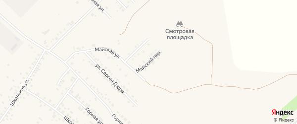 Майский переулок на карте Туймаз с номерами домов