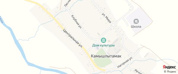 Клубная улица на карте села Камышлытамака с номерами домов