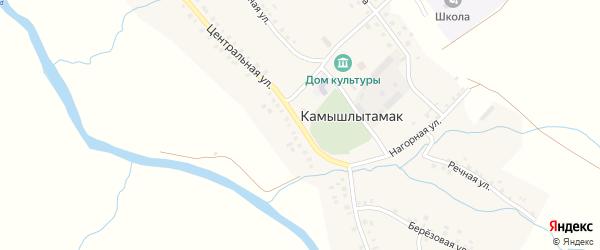 Центральная улица на карте села Камышлытамака с номерами домов