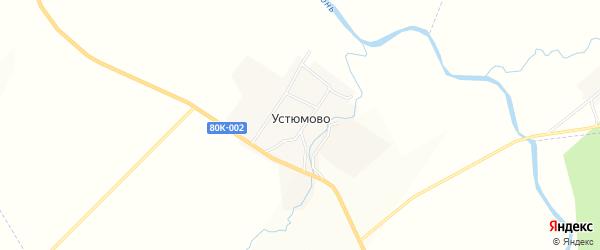 Карта деревни Устюмово в Башкортостане с улицами и номерами домов