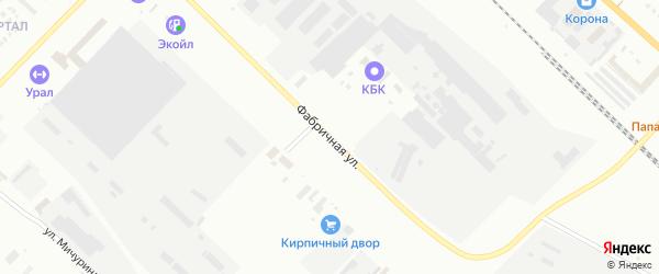 Фабричная улица на карте Туймаз с номерами домов