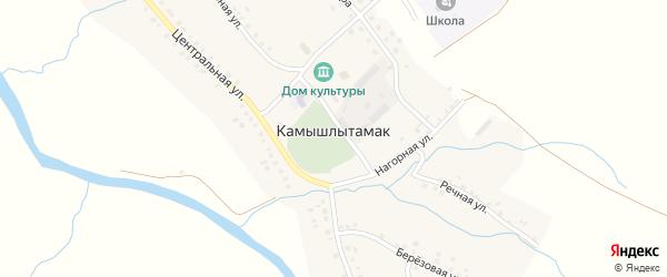 Школьная улица на карте села Камышлытамака с номерами домов