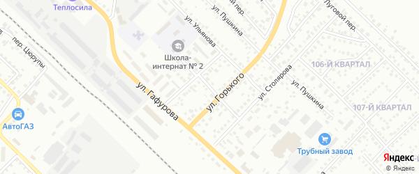 Переулок Куйбышева на карте Туймаз с номерами домов