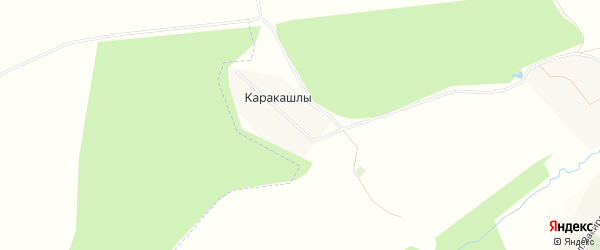 Карта деревни Каракашлы в Башкортостане с улицами и номерами домов