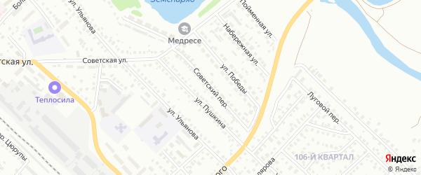 Советский переулок на карте Туймаз с номерами домов