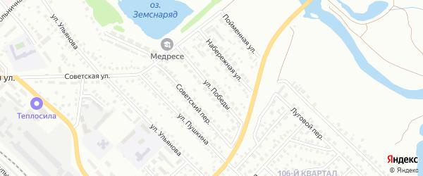 Улица Победы на карте Туймаз с номерами домов