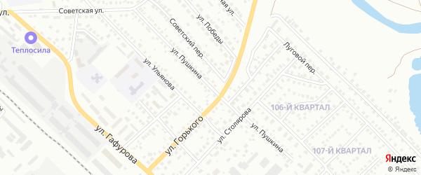 Улица Пушкина на карте Туймаз с номерами домов