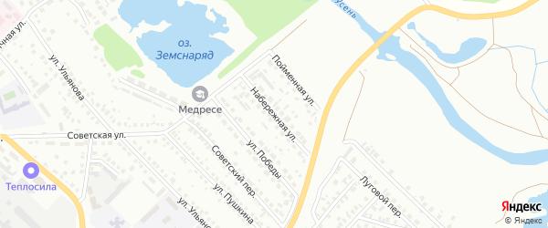 Набережная улица на карте Туймаз с номерами домов