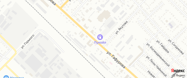 Улица Гафурова на карте Туймаз с номерами домов