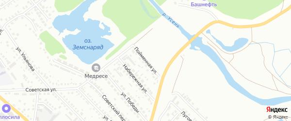 Пойменная улица на карте Туймаз с номерами домов