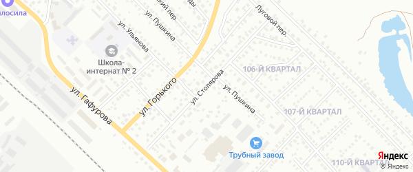 Улица Столярова на карте Туймаз с номерами домов