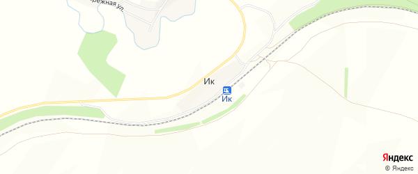 Карта деревни Ика в Башкортостане с улицами и номерами домов
