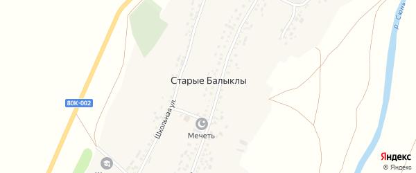 Улица М.Басырова на карте села Старые Балыклы с номерами домов