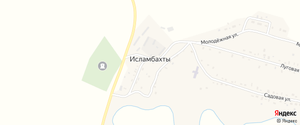 Луговая улица на карте села Исламбахты с номерами домов