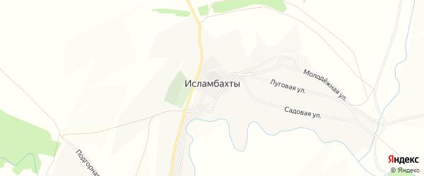 Карта села Исламбахты в Башкортостане с улицами и номерами домов