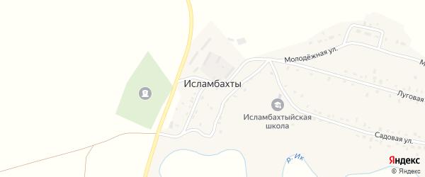 Центральная улица на карте села Исламбахты с номерами домов
