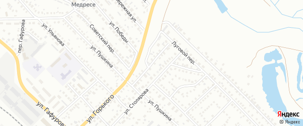 Переулок Пушкина на карте Туймаз с номерами домов
