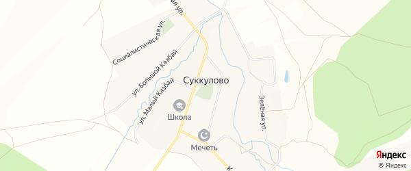 Карта села Суккулово в Башкортостане с улицами и номерами домов