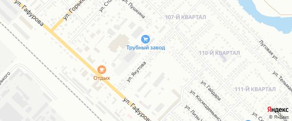 Улица Якутова на карте Туймаз с номерами домов