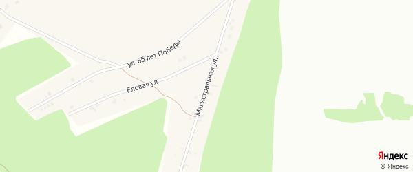 Магистральная улица на карте села Райманово с номерами домов