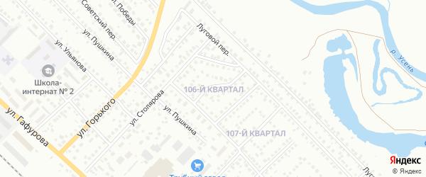 106-й квартал на карте Туймаз с номерами домов