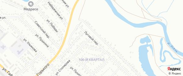 Луговой переулок на карте Туймаз с номерами домов