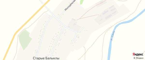 Луговая улица на карте села Старые Балыклы с номерами домов