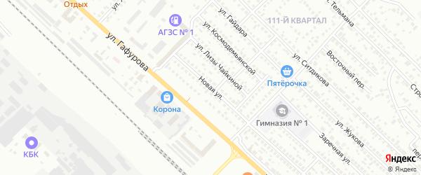 Новая улица на карте деревни Тимирово с номерами домов