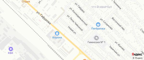 Новая улица на карте Туймаз с номерами домов