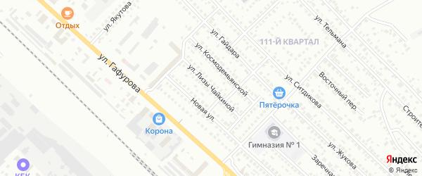 Улица Л.Чайкиной на карте Туймаз с номерами домов