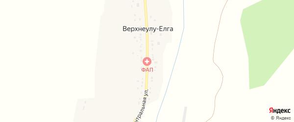Центральная улица на карте села Верхнеулу-Елги с номерами домов