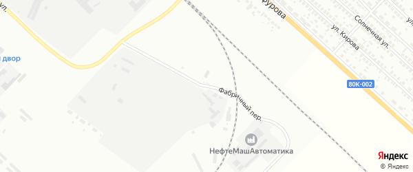 Фабричный переулок на карте Туймаз с номерами домов