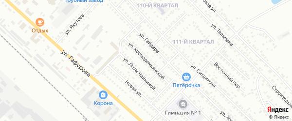 Улица З.Космодемьянской на карте Туймаз с номерами домов