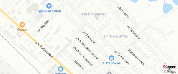 Улица Гайдара на карте Туймаз с номерами домов