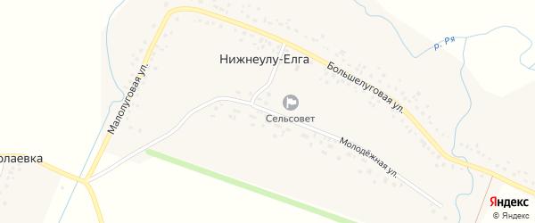 Молодежная улица на карте села Нижнеулу-Елги с номерами домов
