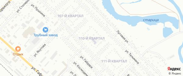 110-й квартал на карте Туймаз с номерами домов