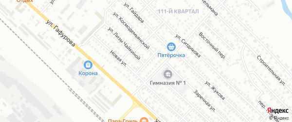 Зеленый переулок на карте Туймаз с номерами домов